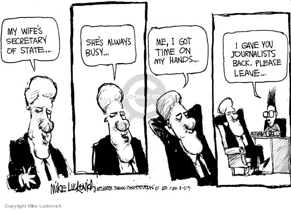 Mike Luckovich  Mike Luckovich's Editorial Cartoons 2009-08-05 journalist
