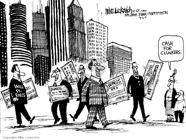 Mike Luckovich  Mike Luckovich's Editorial Cartoons 2009-08-06 stock market