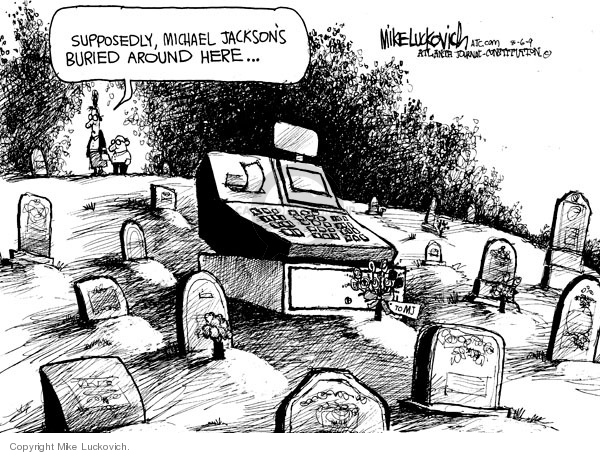 Mike Luckovich  Mike Luckovich's Editorial Cartoons 2009-08-07 death