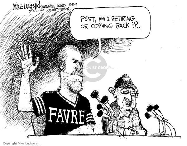 Mike Luckovich  Mike Luckovich's Editorial Cartoons 2009-08-19 Brett