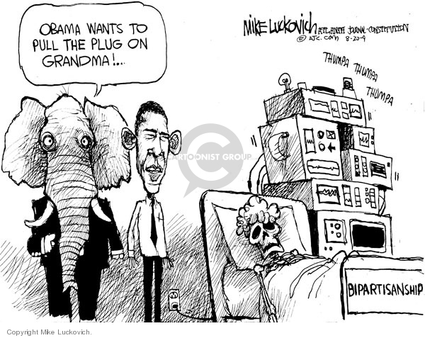 Mike Luckovich  Mike Luckovich's Editorial Cartoons 2009-08-20 Barack Obama