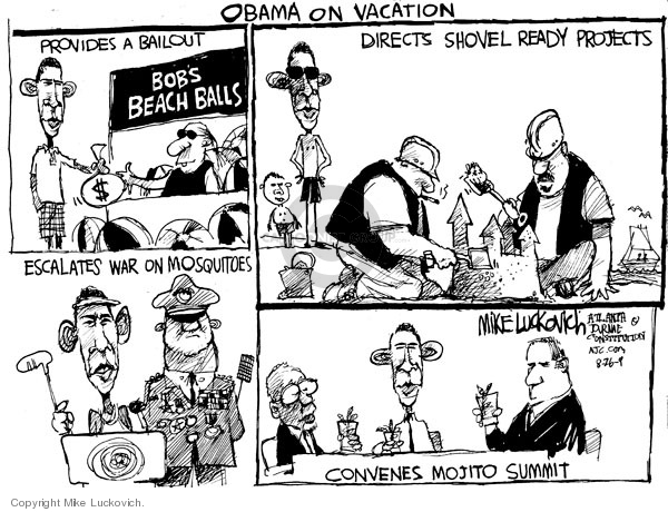 Mike Luckovich  Mike Luckovich's Editorial Cartoons 2009-08-26 Barack Obama
