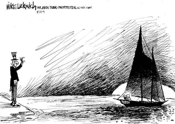 Mike Luckovich  Mike Luckovich's Editorial Cartoons 2009-08-27 sailing