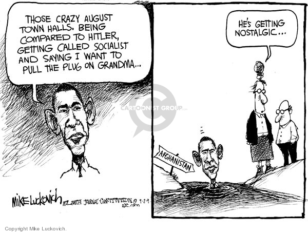 Mike Luckovich  Mike Luckovich's Editorial Cartoons 2009-09-02 Barack Obama