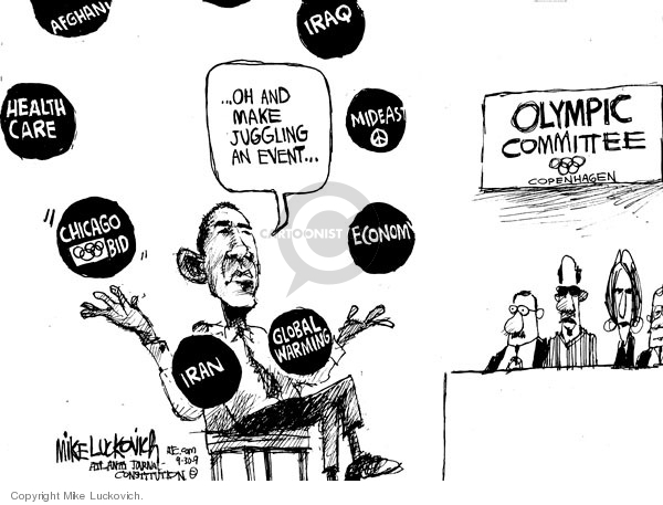 Mike Luckovich  Mike Luckovich's Editorial Cartoons 2009-09-30 Barack Obama