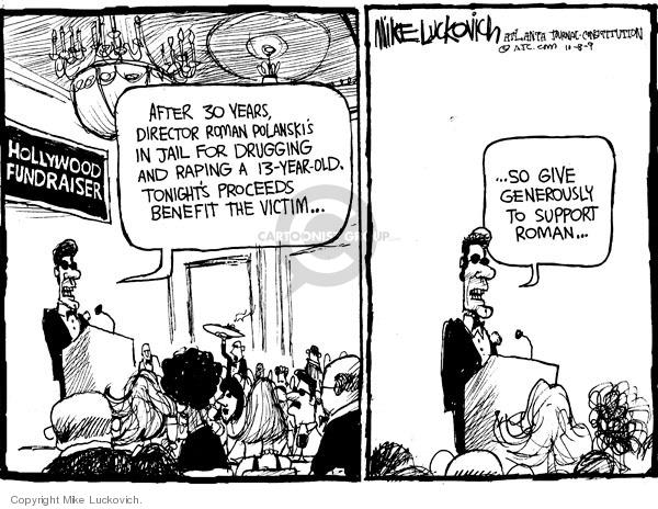 Cartoonist Mike Luckovich  Mike Luckovich's Editorial Cartoons 2009-10-08 rape