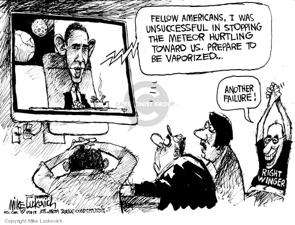 Mike Luckovich  Mike Luckovich's Editorial Cartoons 2009-10-09 Barack Obama