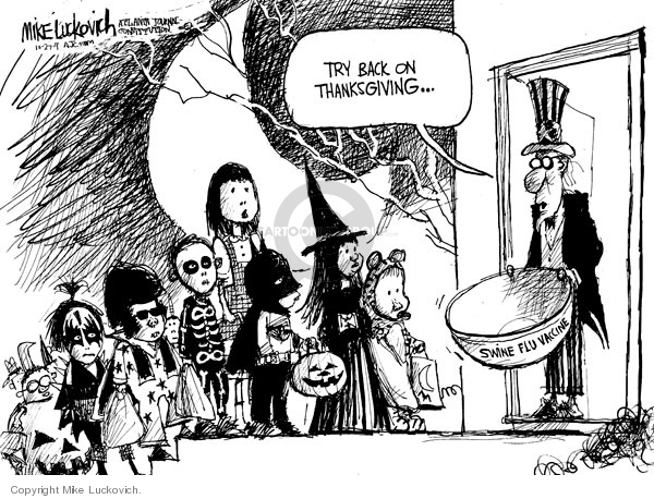 Mike Luckovich  Mike Luckovich's Editorial Cartoons 2009-10-27 influenza