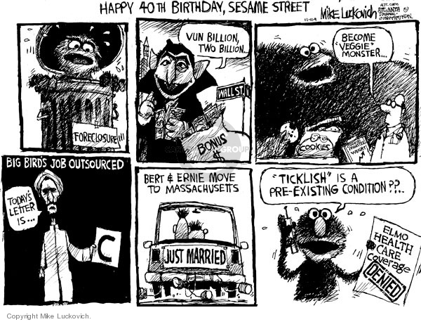 Cartoonist Mike Luckovich  Mike Luckovich's Editorial Cartoons 2009-11-11 birthday
