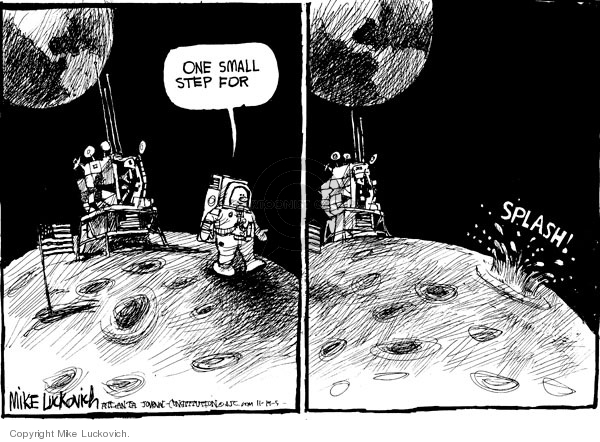 Mike Luckovich  Mike Luckovich's Editorial Cartoons 2009-11-19 astronaut