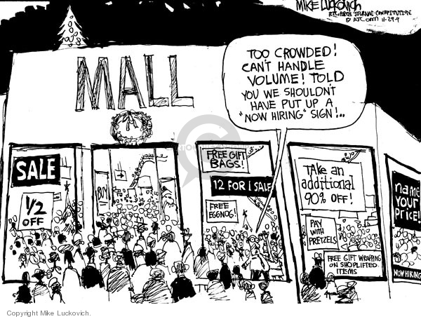 Cartoonist Mike Luckovich  Mike Luckovich's Editorial Cartoons 2009-11-29 crowd