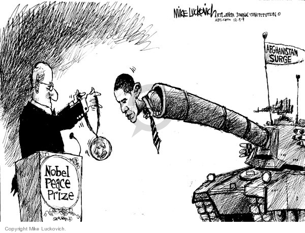 Mike Luckovich  Mike Luckovich's Editorial Cartoons 2009-12-09 tank