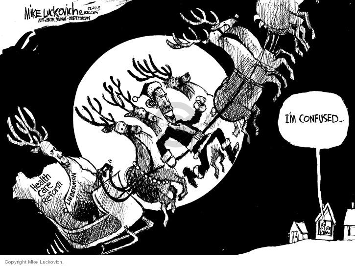 Cartoonist Mike Luckovich  Mike Luckovich's Editorial Cartoons 2009-12-17 congress health care