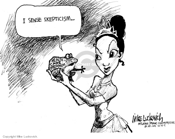 Cartoonist Mike Luckovich  Mike Luckovich's Editorial Cartoons 2009-12-18 children's health