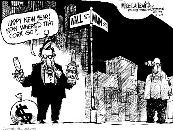 Mike Luckovich  Mike Luckovich's Editorial Cartoons 2009-12-31 stock market