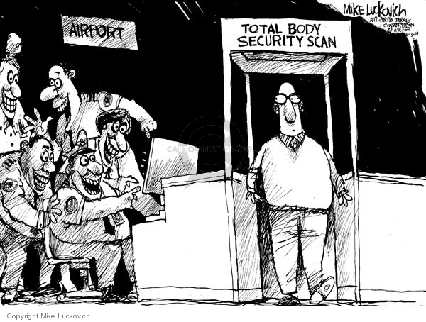 Cartoonist Mike Luckovich  Mike Luckovich's Editorial Cartoons 2010-01-03 travel safety