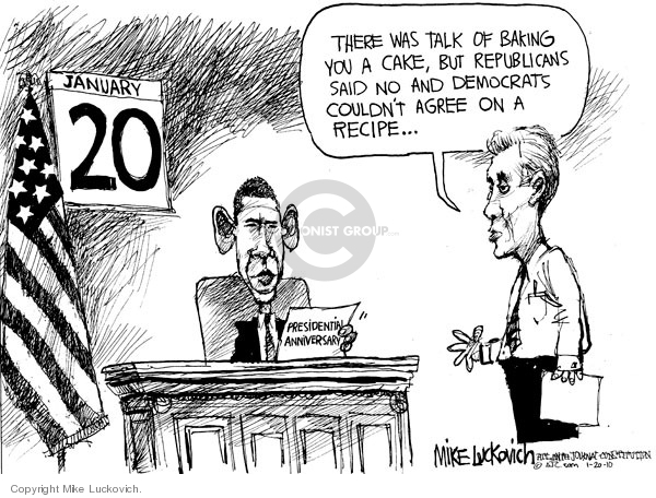Mike Luckovich  Mike Luckovich's Editorial Cartoons 2010-01-20 Barack Obama