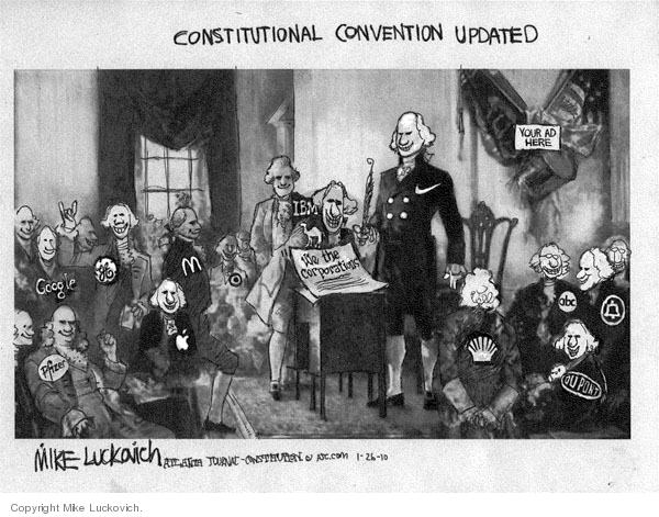 Cartoonist Mike Luckovich  Mike Luckovich's Editorial Cartoons 2010-01-26 Constitution