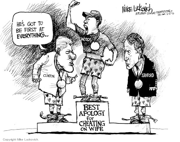 Mike Luckovich  Mike Luckovich's Editorial Cartoons 2010-02-21 Bill Clinton