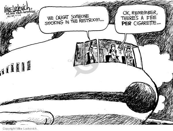 Mike Luckovich  Mike Luckovich's Editorial Cartoons 2010-04-09 airline travel