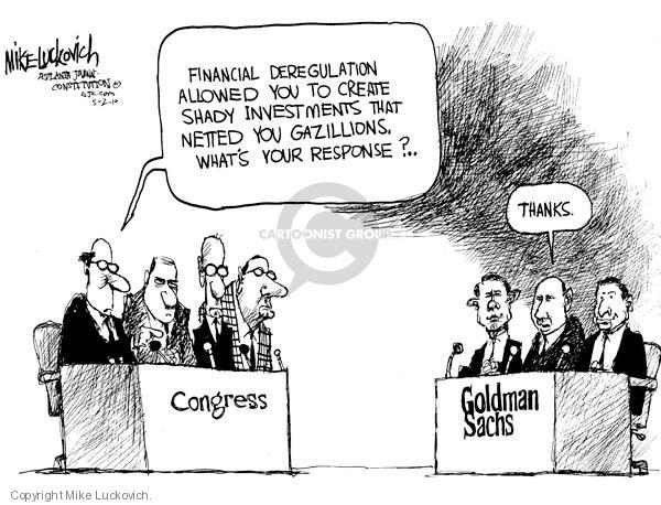 Cartoonist Mike Luckovich  Mike Luckovich's Editorial Cartoons 2010-05-02 business economy