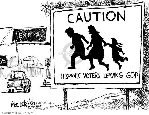 Caution. Hispanic voters leaving GOP. Exit.