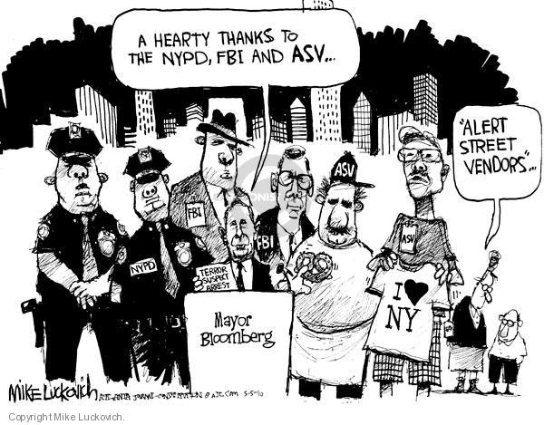Cartoonist Mike Luckovich  Mike Luckovich's Editorial Cartoons 2010-05-05 law enforcement