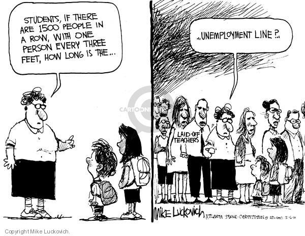 Cartoonist Mike Luckovich  Mike Luckovich's Editorial Cartoons 2010-05-06 unemployment