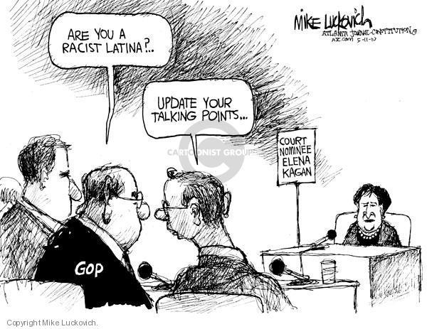 Cartoonist Mike Luckovich  Mike Luckovich's Editorial Cartoons 2010-05-11 judicial branch