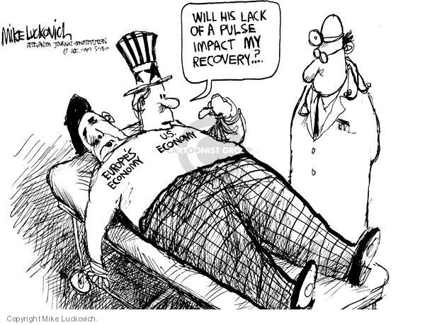 Mike Luckovich  Mike Luckovich's Editorial Cartoons 2010-05-18 global economy