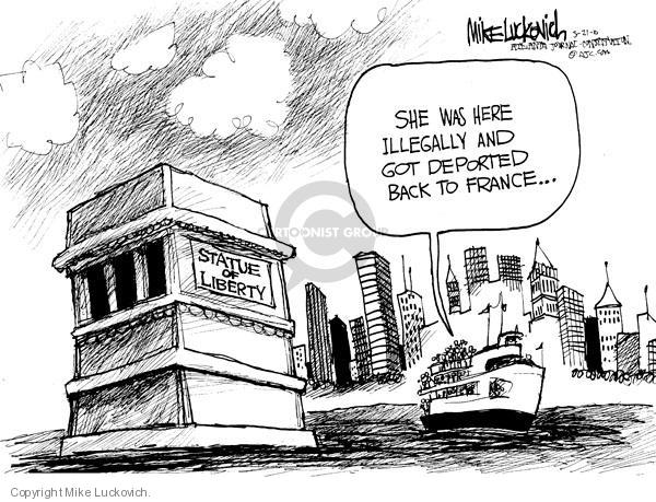 Cartoonist Mike Luckovich  Mike Luckovich's Editorial Cartoons 2010-05-21 liberty