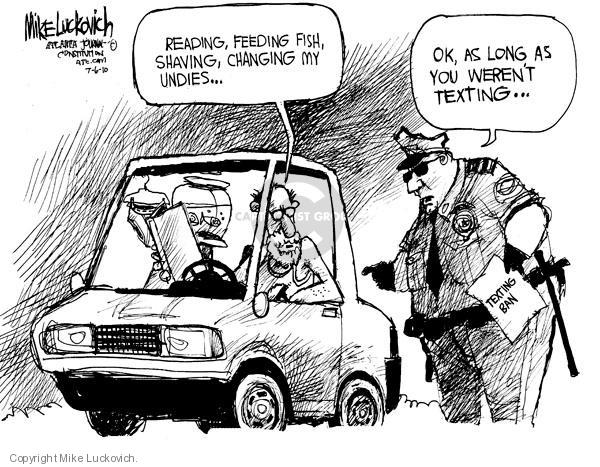 Cartoonist Mike Luckovich  Mike Luckovich's Editorial Cartoons 2010-07-06 law enforcement