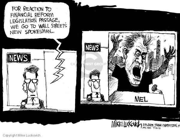 Cartoonist Mike Luckovich  Mike Luckovich's Editorial Cartoons 2010-07-16 bank