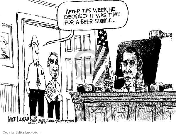 Cartoonist Mike Luckovich  Mike Luckovich's Editorial Cartoons 2010-07-23 Presidency
