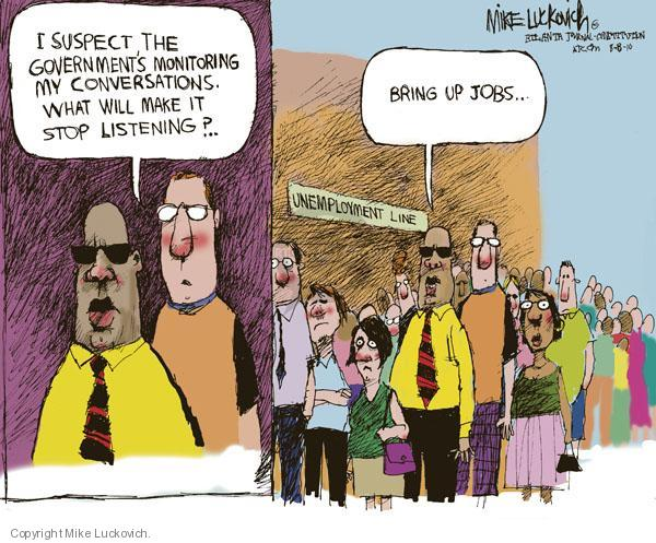 Cartoonist Mike Luckovich  Mike Luckovich's Editorial Cartoons 2010-08-08 government