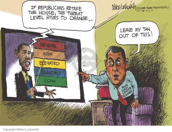 Mike Luckovich  Mike Luckovich's Editorial Cartoons 2010-09-12 Obama terrorism