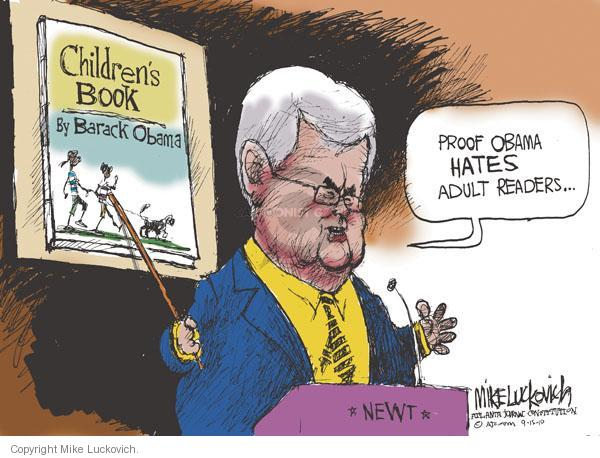 Mike Luckovich  Mike Luckovich's Editorial Cartoons 2010-09-15 former president