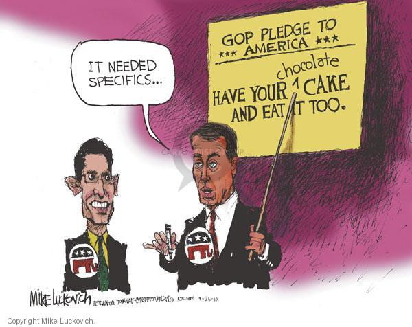 Mike Luckovich  Mike Luckovich's Editorial Cartoons 2010-09-26 republican politician