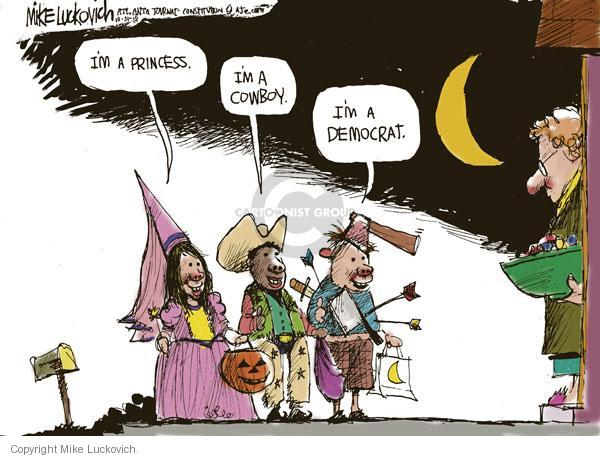 Mike Luckovich  Mike Luckovich's Editorial Cartoons 2010-10-31 Halloween costume
