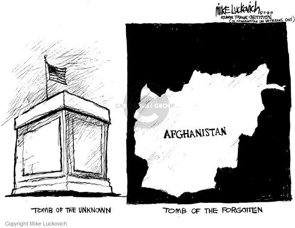 Cartoonist Mike Luckovich  Mike Luckovich's Editorial Cartoons 2010-11-16 monument