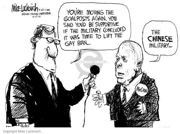 Mike Luckovich  Mike Luckovich's Editorial Cartoons 2010-11-17 military service