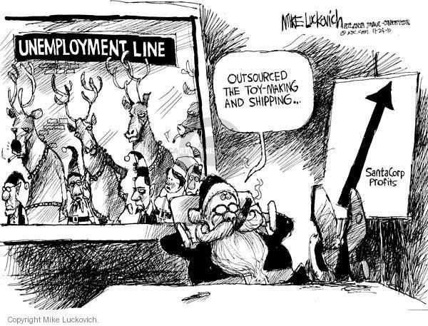 Cartoonist Mike Luckovich  Mike Luckovich's Editorial Cartoons 2010-11-24 employee