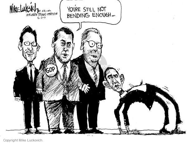 Mike Luckovich  Mike Luckovich's Editorial Cartoons 2010-12-02 Obama Boehner
