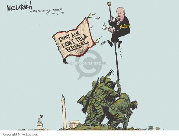 Mike Luckovich  Mike Luckovich's Editorial Cartoons 2010-12-05 John McCain