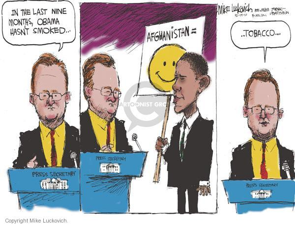 Mike Luckovich  Mike Luckovich's Editorial Cartoons 2010-12-19 press secretary