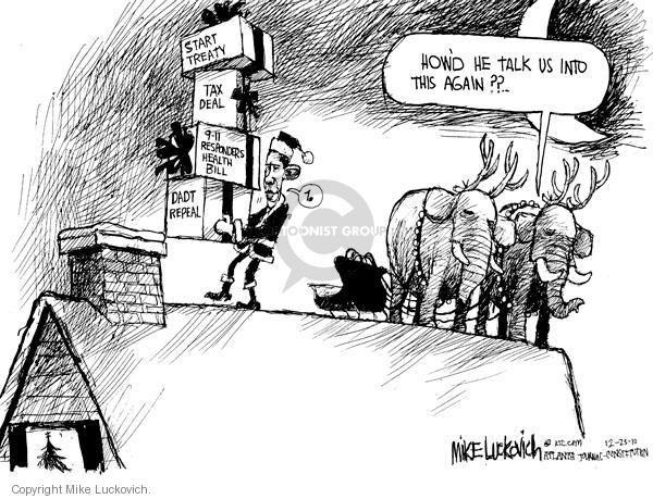 Mike Luckovich  Mike Luckovich's Editorial Cartoons 2010-12-23 republican politician