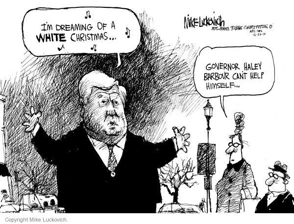 Mike Luckovich  Mike Luckovich's Editorial Cartoons 2010-12-24 racism