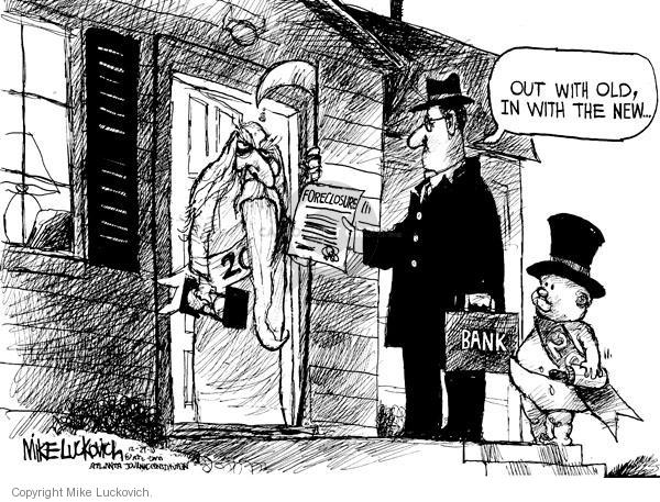 Cartoonist Mike Luckovich  Mike Luckovich's Editorial Cartoons 2010-12-29 bank
