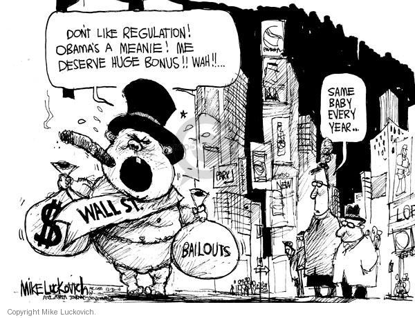 Cartoonist Mike Luckovich  Mike Luckovich's Editorial Cartoons 2010-12-30 bank