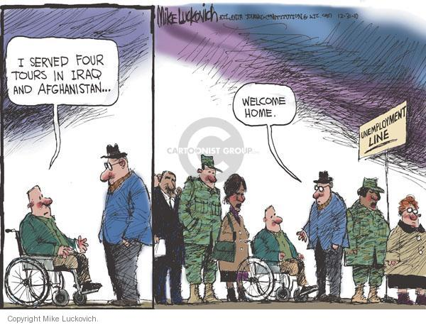 Cartoonist Mike Luckovich  Mike Luckovich's Editorial Cartoons 2010-12-31 armed forces